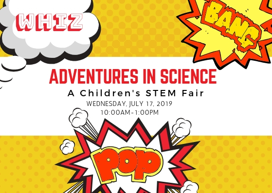 graphic showing the Whiz, Bang Pop! STEM fair