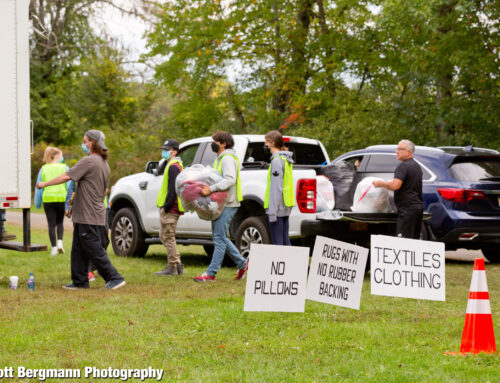 Sustainable Saratoga's 5th annual Saratoga Recycles Day saw short lines and beautiful weather